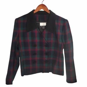 Preston & York Plaid Red & Green Blazer